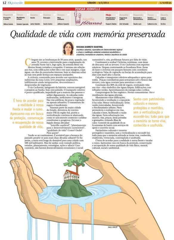 Pensar Joinville - qualidade de vida